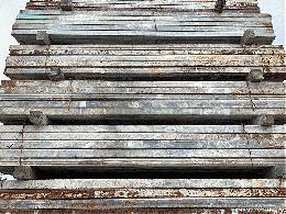 中古 鉄鋼管 60角 2.5m